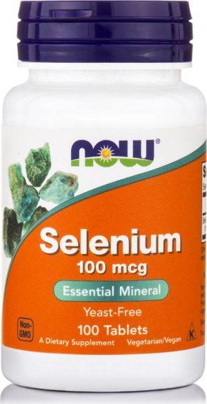 Now Foods Selenium 100mcg 100 tabs