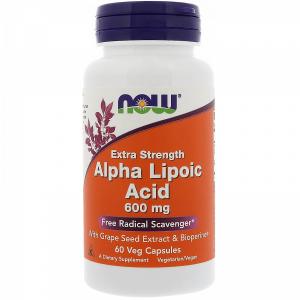 Now Foods Alpha Lipoic Acid Extra Strength 600mg 60vcaps