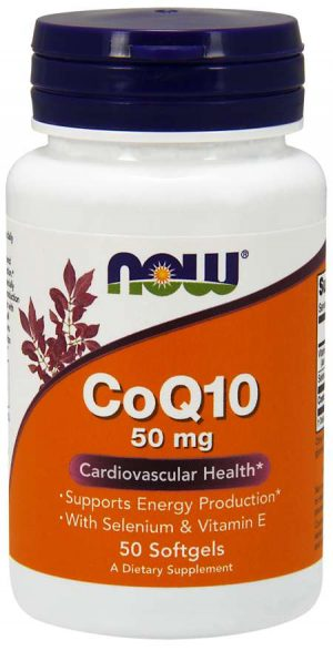 Now Foods CoQ10 with Selenium & Vitamin E 50mg - 50 softgels