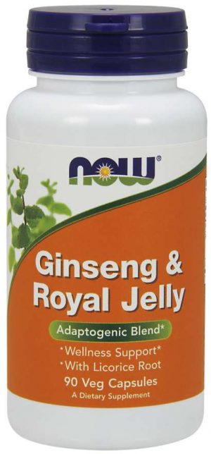 Now Foods Ginseng & Royal Jelly - 90 vcaps