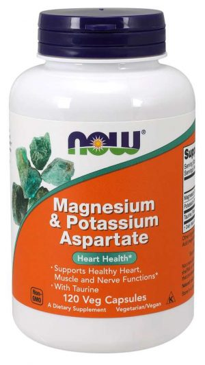 Now Foods Magnesium & Potassium Aspartate with Taurine - 120 vcaps