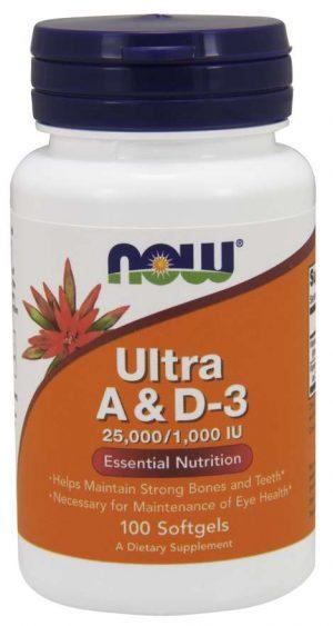 Now Foods Ultra A & D3 25000 - 1000 IU - 100 softgels
