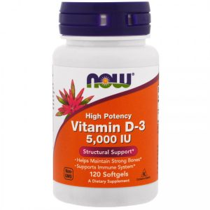 Now Foods Vitamin D3 5000iu 120 sgels