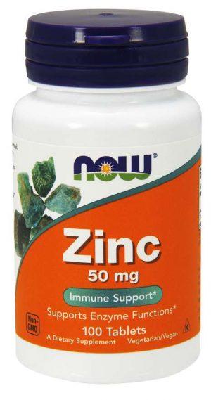 Now Foods Zinc 50mg - 100 tabs
